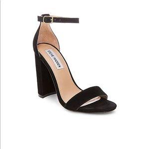 Black strapped Steve Madden heels!